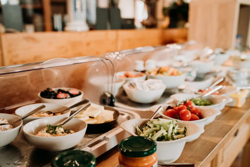 Frühstücksbuffet in Gemünden am Main für unsere Hotelgäste und Hausgäste in unserem Hotel in Gemünden am Main. Auch externe Gäste.